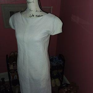 Charles Nolan New York Dresses - Charles Nolan White  Cotton Blend Dress